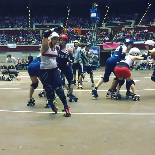 #rdwc #rollerderby #rollerderbyworldcup @kbhccdallas That was exciting to watch!