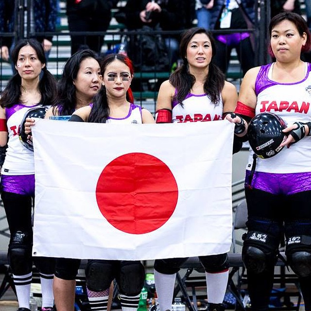 Great shot of Team Japan from BoutDay.com #rollerderby