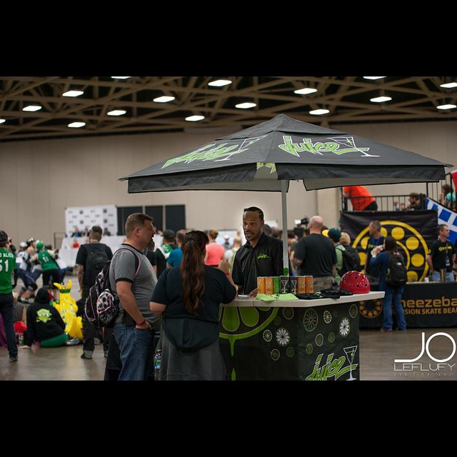 Our sponsor, Juice Wheels at the 2014 Roller Derby World Cup. ? #rollerderby photo by @joleflufyphotography @juicewheels