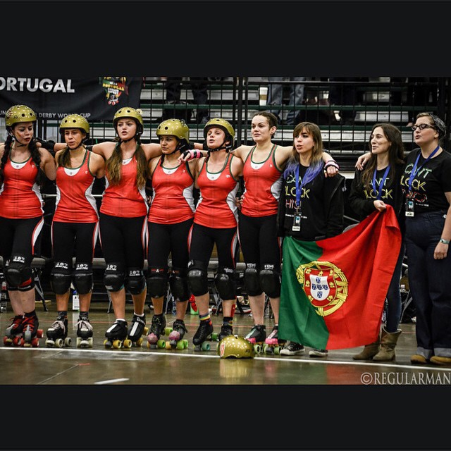 @teamportugalrd Team Portugal at #rdwc2014 Photo by #regularman #rollerderby